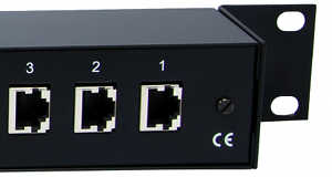 [Photo of RJ45 Balun Panel showing RJ45 conmnectors]