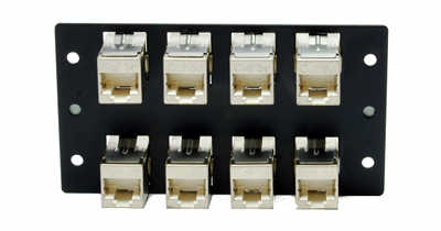 [Photo of rear of 8 port Through Coupler RJ45 DDF B2]
